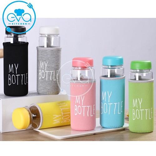 Bình nước thủy tinh in chữ my bottle kèm vỏ bọc vải neoprene nhiều màu 500ml - 19422569 , 22631104 , 15_22631104 , 35000 , Binh-nuoc-thuy-tinh-in-chu-my-bottle-kem-vo-boc-vai-neoprene-nhieu-mau-500ml-15_22631104 , sendo.vn , Bình nước thủy tinh in chữ my bottle kèm vỏ bọc vải neoprene nhiều màu 500ml
