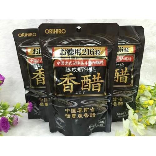 Viên uống giấm đen giảm cân nhật orihiro- giấm giảm cân nhật - made in japan-