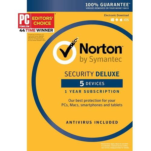 Symantec norton security deluex 5 devices 1 year