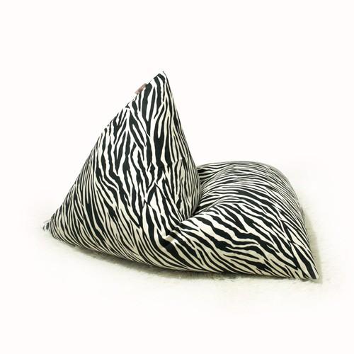 Ghế lười hạt xốp kim tự tháp size vừa màu ngựa vằn ms33