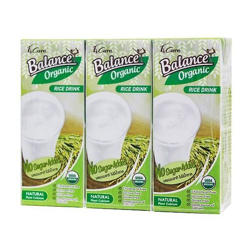 Sữa gạo hữu cơ không đường 4care balance organic - hộp 180ml