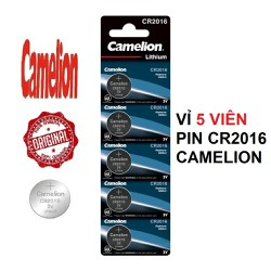 Vỉ 5 viên pin CR2016 3V CAMELION CR-2016 2016 3 Vol