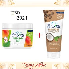 Bộ Đôi Tẩy Da Chết St. Ives Fresh Skin 283g Và Cà Phê 170g - StIves_FreshSkin_Caphe