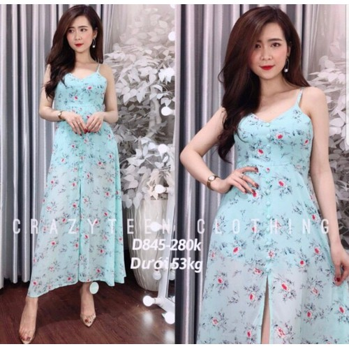 Đầm maxi nữ in hoa