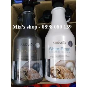 Sữa tắm dưỡng ẩm cao cấp ngọc trai Argasia 1100ml Trắng - ST0015