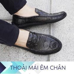[LỊCH LÃM SANG TRỌNG] Giày lười da nam - đế cao su - khâu chắc chắn {Được kiểm hàng trước khi thanh toán}