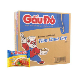 Thùng mì gấu đỏ tôm chua cay 30 gói