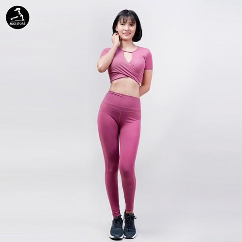 Bộ tập gym yoga nữ crop_top_legging - bd523
