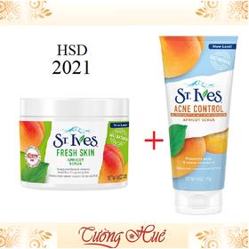 Bộ Đôi Tẩy Da Chết St. Ives Fresh Skin 283g Và Acne Control 170g - StIves_FreshSkin_AcneControl