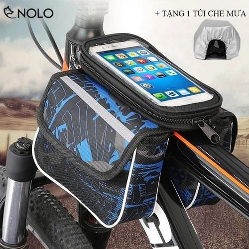 Túi treo sườn trước xe đạp 2 ngăn có ngăn cảm ứng cho điện thoại dưới 6,2 inch tặng túi bọc chống nước - 18043960 , 22652570 , 15_22652570 , 221000 , Tui-treo-suon-truoc-xe-dap-2-ngan-co-ngan-cam-ung-cho-dien-thoai-duoi-62-inch-tang-tui-boc-chong-nuoc-15_22652570 , sendo.vn , Túi treo sườn trước xe đạp 2 ngăn có ngăn cảm ứng cho điện thoại dưới 6,2 inch