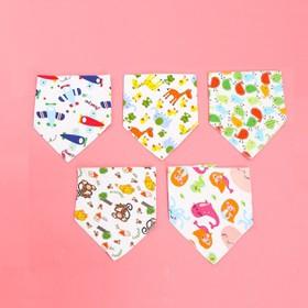 Yếm cho bé-Bộ 5 khăn yếm cotton nút 2 lớp cho bé - khanyemtamgiac