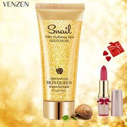 [ TẶNG SON] Combo 3 sữa rửa mặt tinh chất vàng & ốc sên VENZEN chống lão hóa dưỡng ẩm làm trắng da XP-SRM05