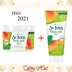 Bộ Đôi Tẩy Da Chết St. Ives Fresh Skin. - Bodoi_StIves_FreshSkin