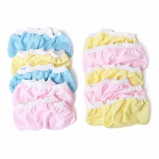 bao tay,chân trẻ sơ sinh-Set 10 cặp bao Tay, 10 cặp bao chân cotton màu bo trơn cho bé sơ sinh