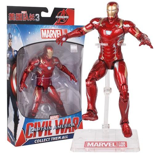 Mô hình người sắt iron man mark 46 trong phim civil war của marvel - có đế trưng bày