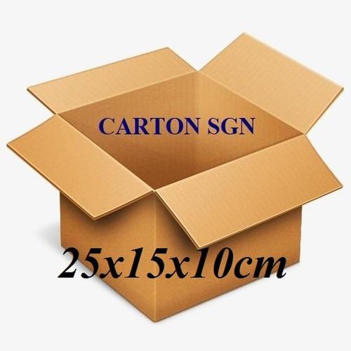 Combo 20 thùng carton  25x15x10cm  hộp -thùng giấy carton giá rẻ