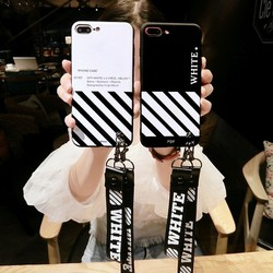 Ốp Iphone - Ốp lưng black and white kèm 2 tag ngắn + dài