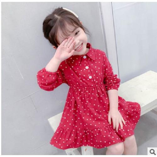 Váy thu đông bé gái - váy đầm thu đông cho bé gái từ 1 đến 7 tuổi