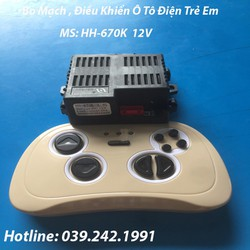 Bo Mạch, Điều Khiển Ô Tô Điện Trẻ Em MsHH670K 12V