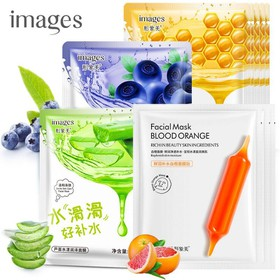 Combo 3 mặt nạ giấy dưỡng trắng da IMAGES lô hội, việt quất, mật ong, cam đỏ mặt nạ nội địa Trung - KR-MA84