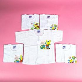 Áo tay ngắn,tay dài cho bé- Áo Sơ Sinh cúc giữa Trắng Cho Bé( set 10 áo) từ 2-16kg - aososinhtayngan