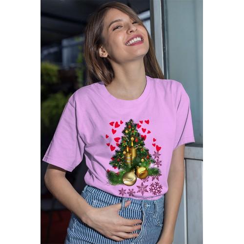 Áo thun nữ in hình cây thông noel thật đẹp cotton thun phong cách dễ thương cá tính