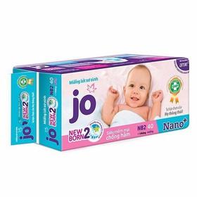 Miếng lót bỉm Jo newborn 2 40 miếng - jonb2