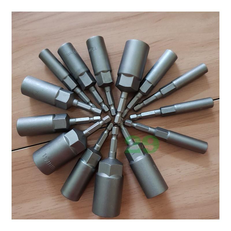 Chụp Bulong cho máy bắn vít, khoan Bán Lẻ Size Từ 6mm – 19mm – HA20029