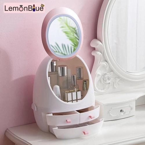 Tủ đựng mỹ phẩm hình trứng tích hợp gương hd  hót nhất 2019 phiên bản không có đèn led