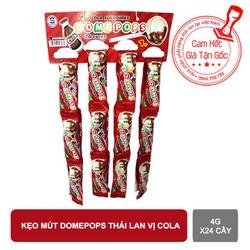 Kẹo mút Domepops thái lan vị Cola 4g x24 cây