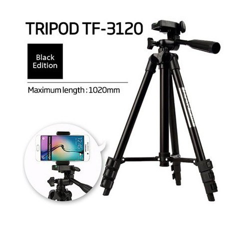 Chân đế chụp hình máy ảnh điện thoại tripod tf 3120 loại tốt mẫu mới 2018
