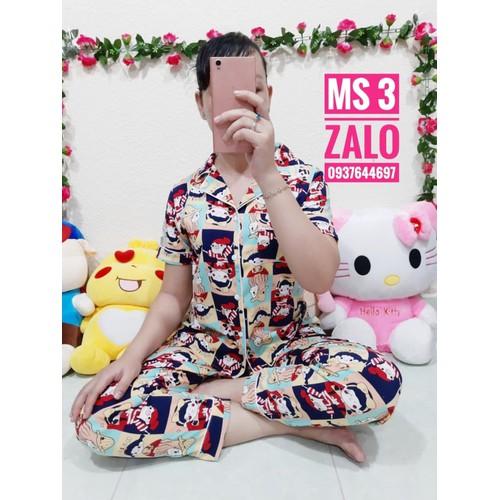 Đồ bộ - đồ bộ pijama free size từ 48-58kg...