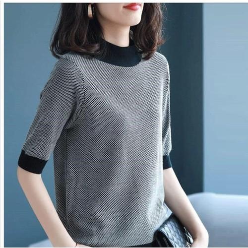 A1295 - áo len nữ tay lỡ hàng nhập