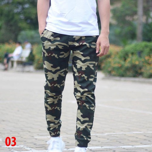 [Được xem hàng] quần jogger kaki phong cách trẻ trung màu rằn ri hot trend