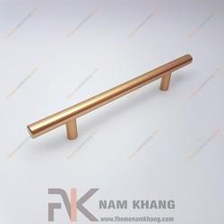 Tay nắm tủ dạng thanh tròn vàng mờ NK238-128V