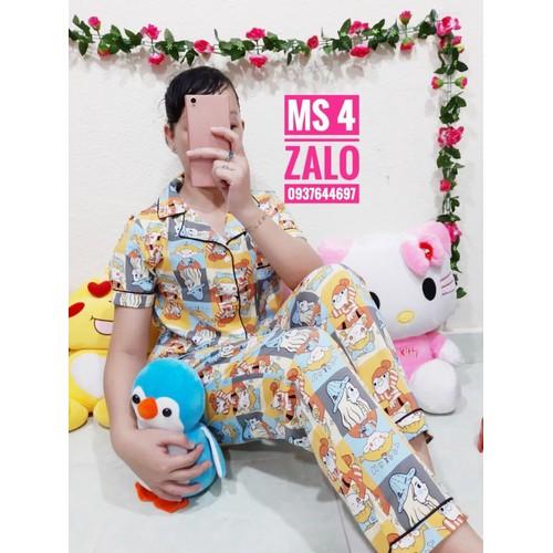 Đồ bộ - đồ bộ pijama free size từ 48-58kg....
