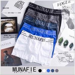 MIỄN SHIP CÓ TÚI ZIP ĐƯỢC XEM HÀNG Combo 04 quần lót nam boxer Munafie co giãn cao cấp Nhật Bản