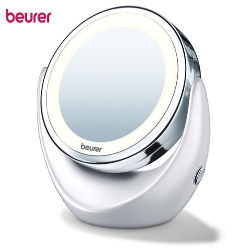 Gương trang điểm để bàn, phóng to 5 lần và có đèn led beurer bs49