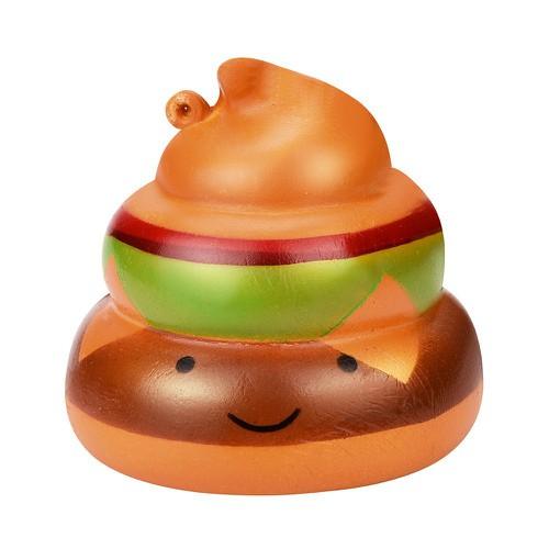 Đồ chơi mềm dẻo giảm stress hình hamburger poo squishy dễ thương squishy