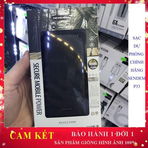 Pin dự phòng chính hãng sendem p33, sạc dự phòng 11000 mah uy tín, bảo hành 1 năm 1 đổi 1, phụ kiện điện thoại, sạc - 18098343 , 22723334 , 15_22723334 , 590000 , Pin-du-phong-chinh-hang-sendem-p33-sac-du-phong-11000-mah-uy-tin-bao-hanh-1-nam-1-doi-1-phu-kien-dien-thoai-sac-15_22723334 , sendo.vn , Pin dự phòng chính hãng sendem p33, sạc dự phòng 11000 mah uy tín, b