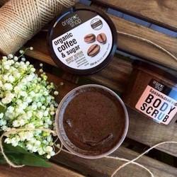 Tẩy Da Chết Body Cafe - Organic Coffee & Sugar Body Scrub giúp sạch da