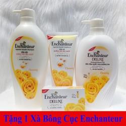 Combo Enchanteur Charming: Dầu Gội 650g + Dầu Xả 170g + Sữa Tắm 650g - Tặng 1 Xà Bông Cục