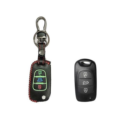 Bao da bọc chìa khóa xe hơi, ô tô chất liệu da thật dùng cho dòng xe kia: forte, caren, morning, cerato, sorento, k2, k5