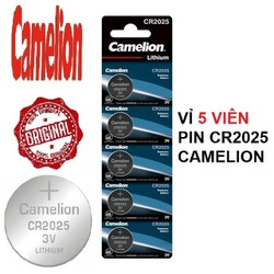 Vỉ 5 viên pin CR2025 3V CAMELION CR-2025 2025 3 Vol