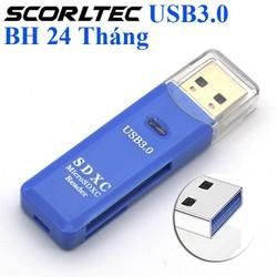 Đầu Đọc thẻ nhớ USB 3.0 Thẻ Nhớ MicroSD, TF, SDHC - Hàng chất lượng BH 24 Tháng