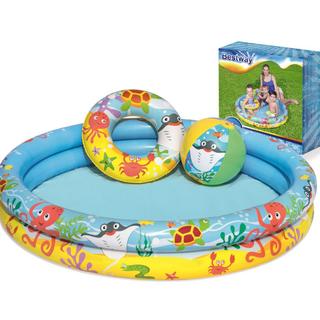 Bể Bơi Phao Tròn 2 tầng kích thước 1.22m x 20cm Bestway 51124 - 51124 - HEE222 thumbnail