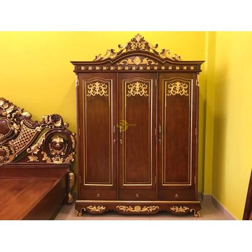 Tủ áo cổ điển dát vàng 1,8m×2,5m - 18120744 , 22748249 , 15_22748249 , 69900000 , Tu-ao-co-dien-dat-vang-18m25m-15_22748249 , sendo.vn , Tủ áo cổ điển dát vàng 1,8m×2,5m
