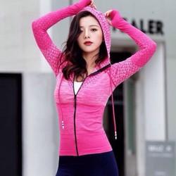 Áo khoác thể thao nữ ko túi ôm Body siêu đẹp [3 màu Đen Hồng Xanh]