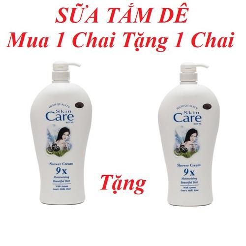 [Mua 1 chai tặng 1 chai] - sữa tắm dê beauty care trắng mịn 1200ml