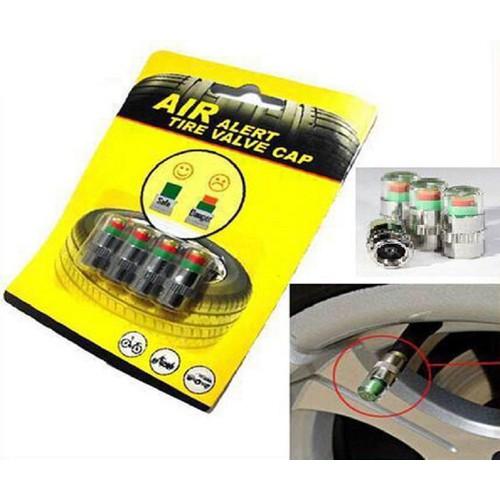 Bộ 4 nắp chụp van báo áp suất lốp ô tô,xe máy